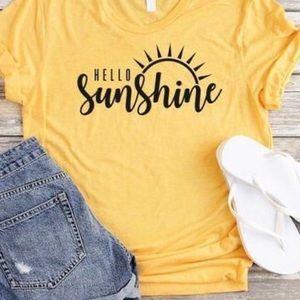 Tops - Custom Hello Sunshine Summer T Shirt